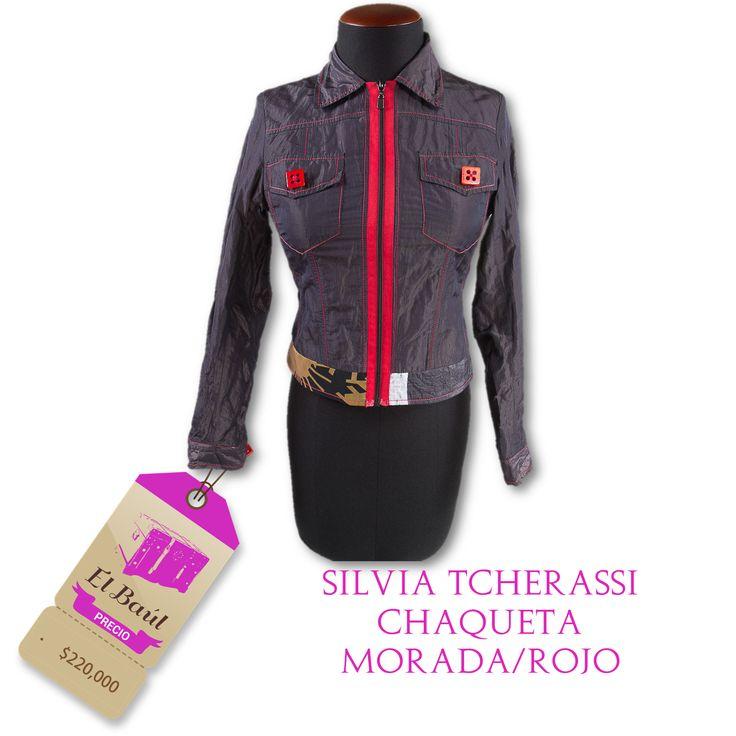 Diseños de Silvia Tcherassi  los han lucido Claudia Schiffer, valeria mazza  $220,000  http://elbaul.co/Productos/1288/Silvia-Tcherassi-chaqueta-morada/rojo-