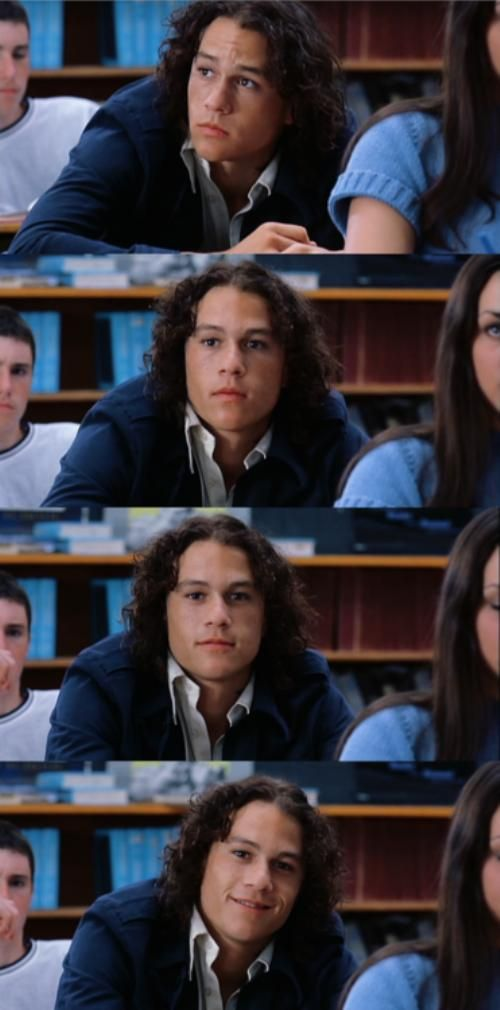 Heath Ledger, Patrick Verona - 10 Things I Hate About You (1999) #williamshakespeare #thetamingoftheshrew