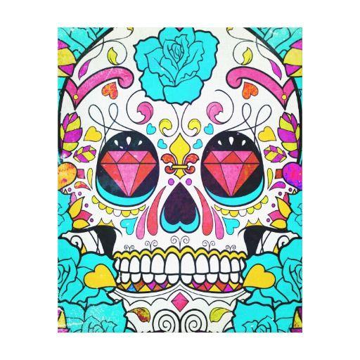 Cráneo del azúcar del inconformista y rosas floral