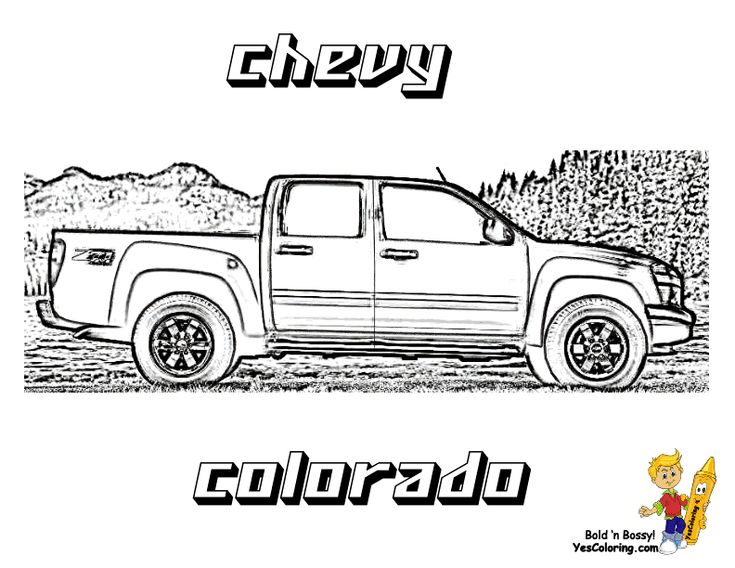 Chevy Colorado Coloring At Yescoloring Chevy Trucks 55 Chevy