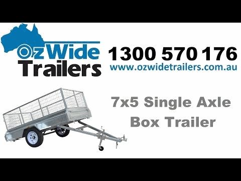 7x5 Single Axle Galvanised Box Trailer