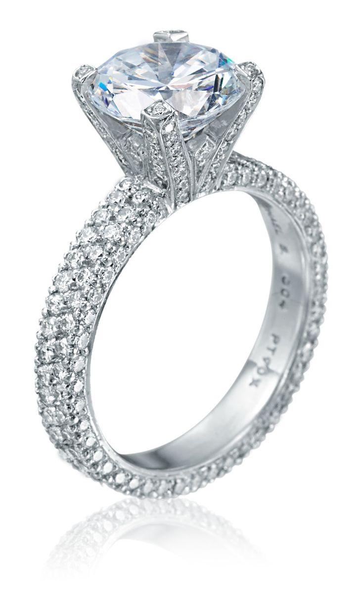 17 best images about pave engagement rings on pinterest. Black Bedroom Furniture Sets. Home Design Ideas