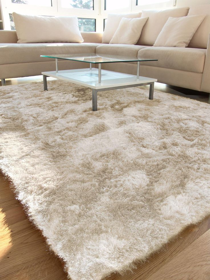 benuta tapis shaggy poils longs longues m ches whisper pas cher beige 60x60 cm sans. Black Bedroom Furniture Sets. Home Design Ideas