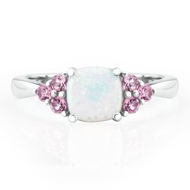 Opal isn't my birth stone, but it's the birth stone for the month I got married. I love this. :) -- October Birthstone Ring - October - Birthstones - Jewelry - Helzberg Diamonds