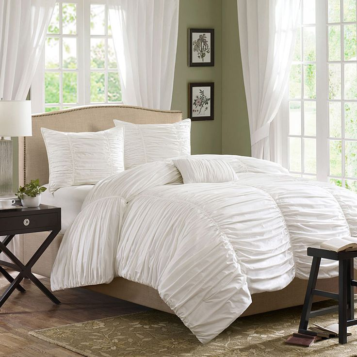 Madison Park Delancey Comforter Set The Bed Is Where Fun Meets Comfort Entire Top Of Rouched Fabric T