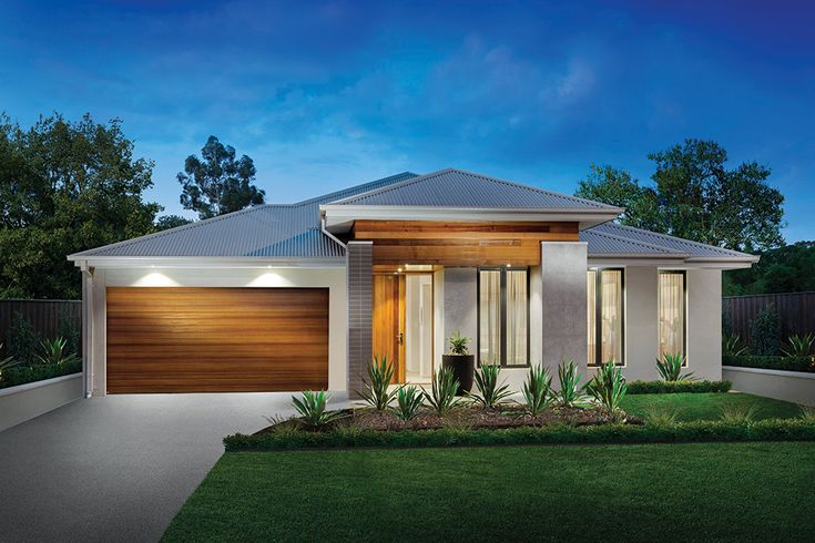 Waterside facade on our Vermont display home in Woodlea.