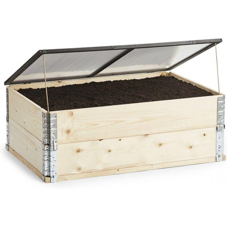 Lokk med vindu som forvandler dyrkekassen til et drivhus. Lokket hjelper til med å holde på varme og fukt lengre, noe som gir raskere vekstresultat. ...