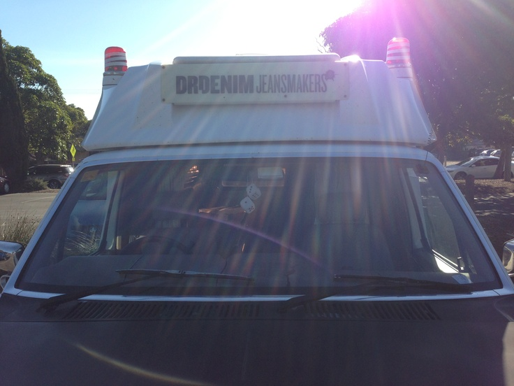 Buyer's Diary | Dr Denim doing mobile showings on their Aussie road trip. #pimped #ambulance #style #denim #wicked #hermanstore