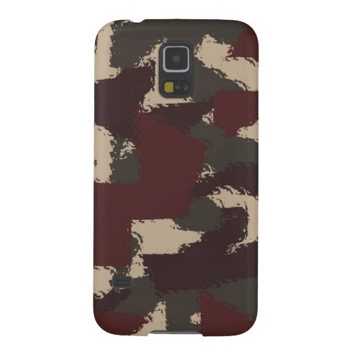 Abstract Military Camouflage Pattern Galaxy S5 Cover, by FOMAdesign