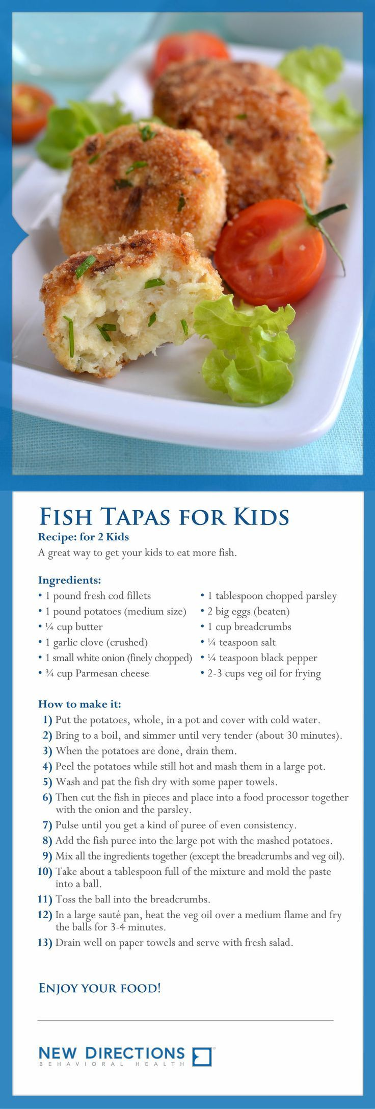 Fish tapas for kids a great way to get your kids to eat for Kid friendly fish recipes