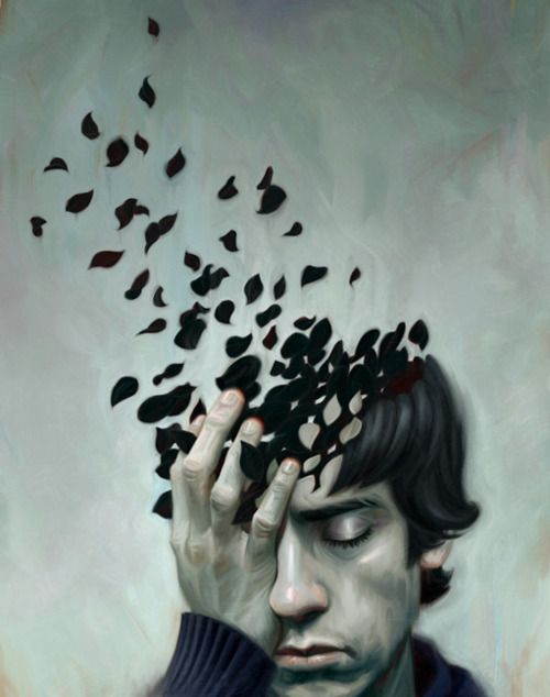 Teen Depression, by Robert Carter I love the imagery behind this image, the idea that when suffering with depression the mind of the person is bresking into fractures.