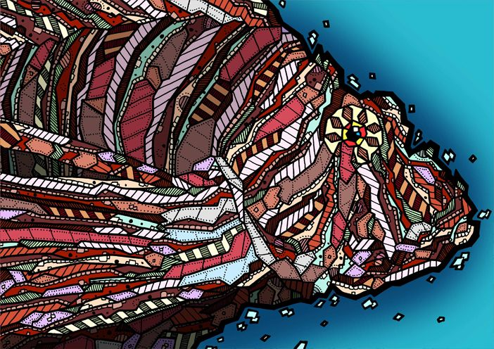 Lionfish Illustrationy by Kelly Blake