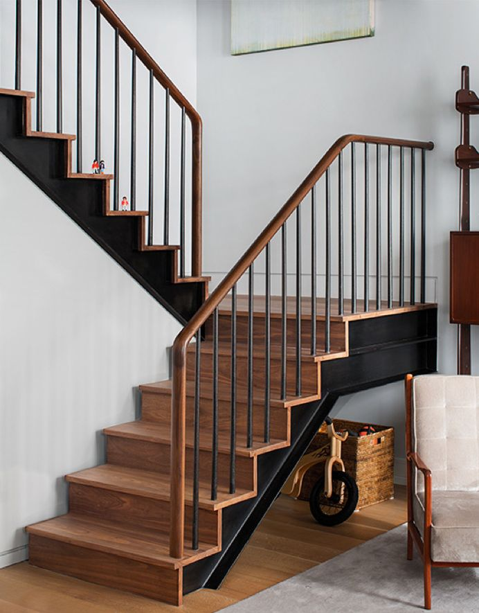 i love the modern warmth and simplicity of these stairs