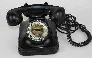 VINTAGE! TELEFONO BAQUELITA AÑOS 50