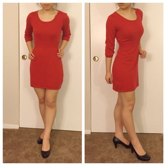 Sexy Little Red Dinner Date Dress GUC. Very flattering on the chest! Fits like small Dresses Mini