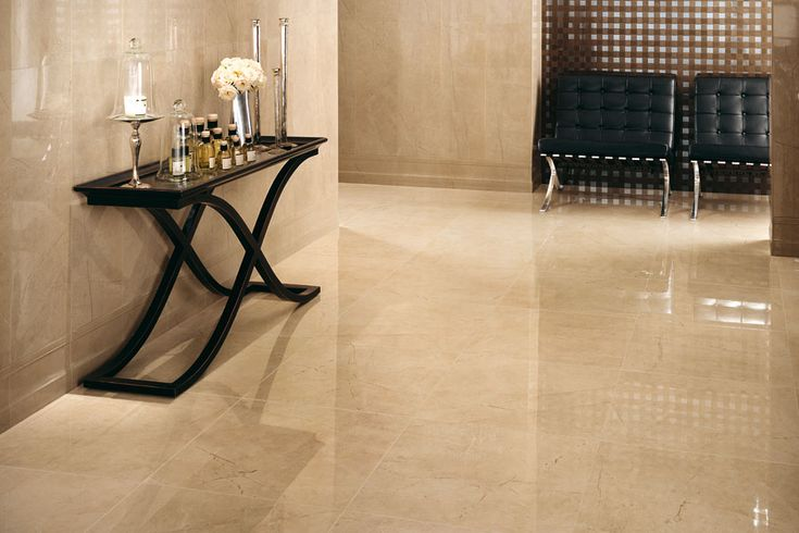 Beige Mystery in our Marvel porcelain tile collection - the look of Crema Marfil without the care and maintenance of marble.