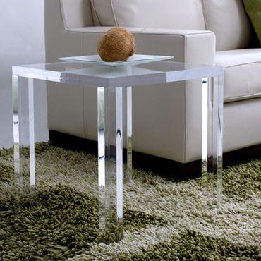 Square Lucite Parsons Table | Mecox Gardens. Esstisch DesignModerner ...