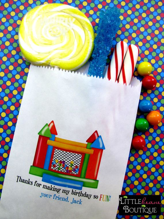Bounce House Birthday Party, Ball Pit Party favors, Bounce house Favor bags…