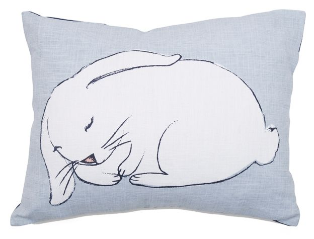 sleepy rabbit cushion cover