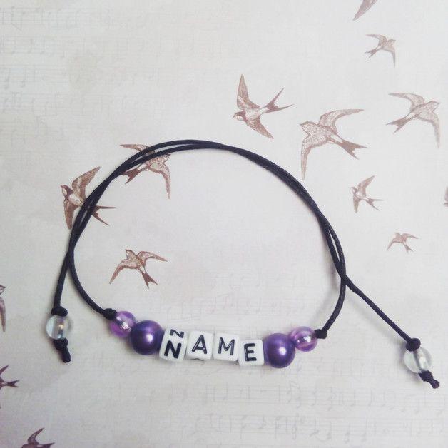 personalisiertes perlenarmband buchstaben hand gemachte. Black Bedroom Furniture Sets. Home Design Ideas
