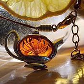 Украшения ручной работы. Ярмарка Мастеров - ручная работа Чайная церемония: подвеска и кольцо. Handmade.