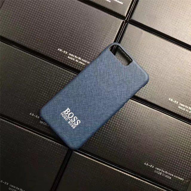HOGO BOSS革製iPhone8/7s/7/7plusケースブランドアイフォン6s/7携帯カバー