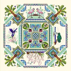 Caribbean Mandala Cross Stitch Pattern by Chatelaine Designs, Martina Rosenberg   http://europeanxs.com/​cgi-bin/​chat_detail.pl?CDM12-