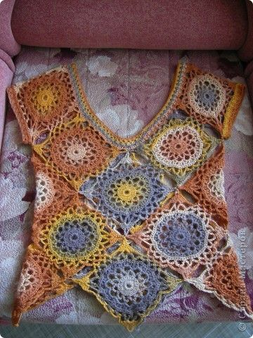 Гардероб Вязание Вязание крючком Оранжевое настроение кофточка крючком Пряжа фото 1