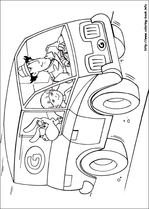 inspector gadget coloring pages - photo#5