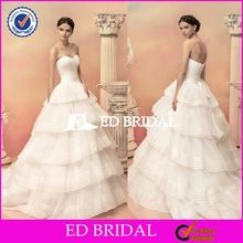 ZY015 Exquisite Ball Gown Tiered Skirt Made To Order Cheap Turkish Wedding Dresses