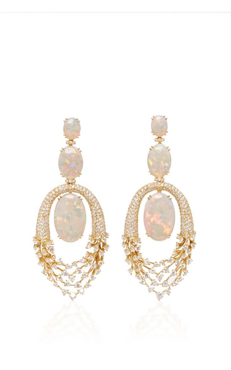 Luminous Opal Earrings by HUEB