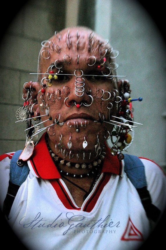World's Most Pierced man Male piercings portrait by StudioGauthier