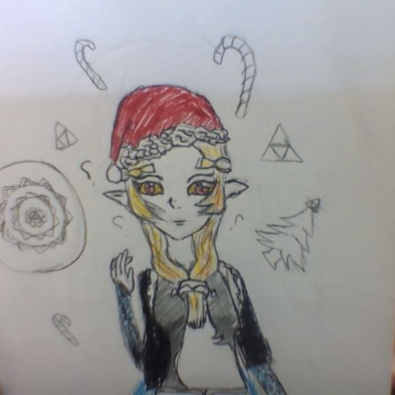 merry christmas don t know what midna looks like if she wore something