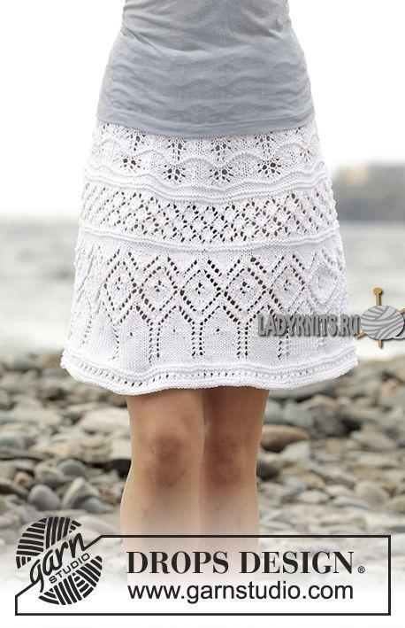 """Красивая ажурная юбка спицами """"Летняя элегантность"""" от Дропс"""