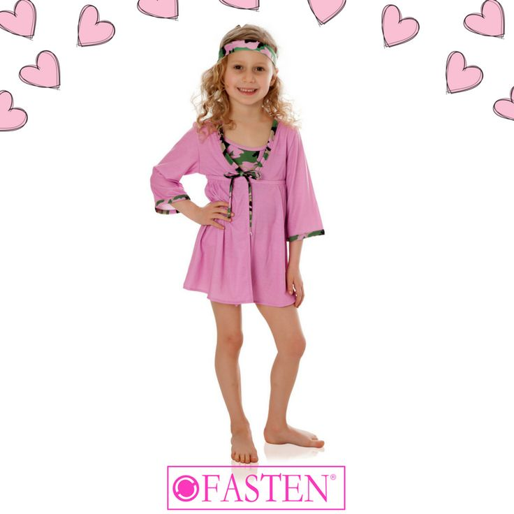 Every #swimsuit needs a matching #cover-up! Accessorize your Rose with Rose Camo Cover-up with the ͞Rose Camo Headband for 100% cuteness guaranteed!  #coverup #beachwear #camo #pink #pinkcamo #FASTENswim #resortwear