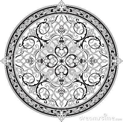Arabic floral pattern motif, based on Ottoman ornament
