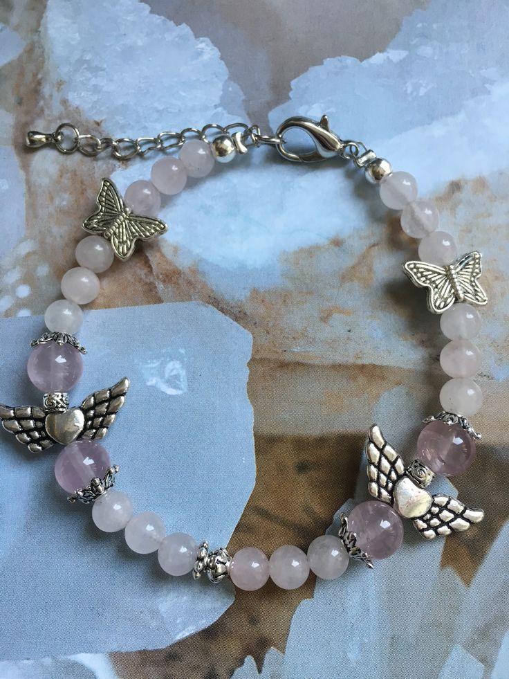 Engeltjes armband van Rozenkwarts 💖