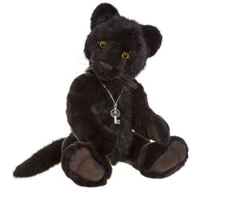 "Charlie Bears Collectable Sheba 19.5"" Plush Bear"