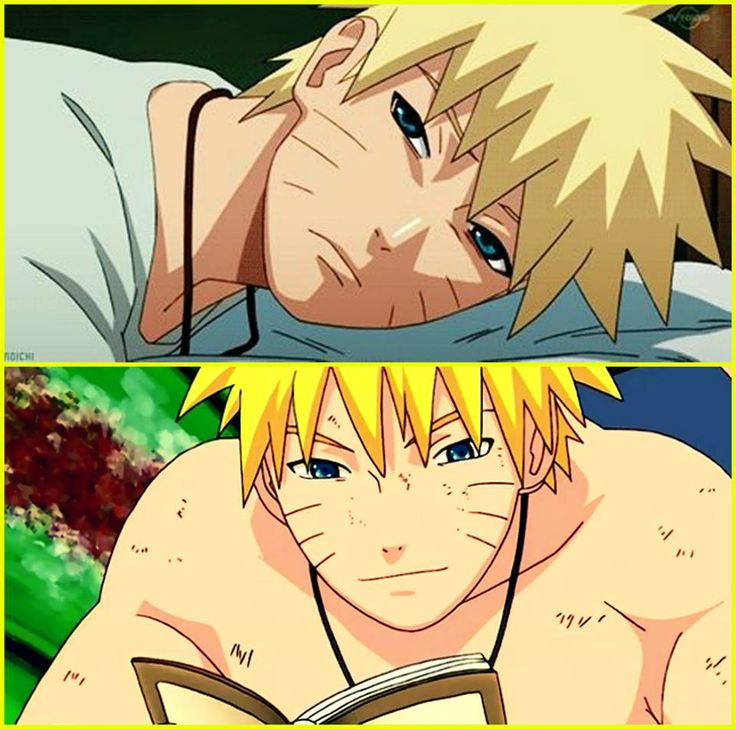 naruto teehee :D he looks a LOT like his dad in the second one. #anime #manga