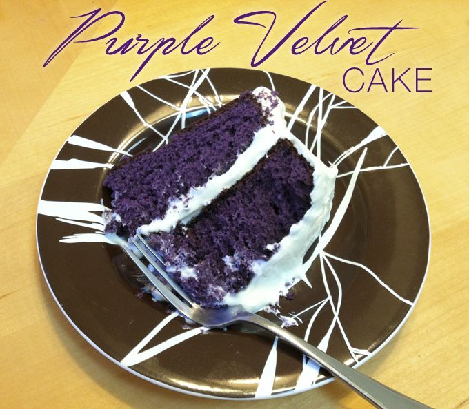 Recipe: Purple Velvet Cake. I'm sure it's full of nasty food coloring but it's beautiful.