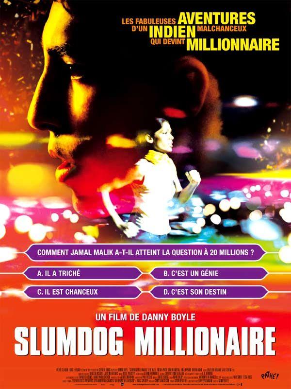 """""""Slumdog millionaire"""". C'est ma soeur qui a choisi ce film pour qu'on le regarde ensemble ce WE (ça n'arrive pas souvent !!!). Très intéressant même s'il y a des scènes chocs... Un jeune homme, issu des bidonvilles qui gagne des sommes folles au jeu """"Qui veut gagner des millions ?"""", est-ce possible ???"""