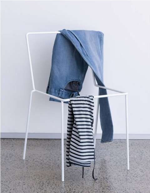 The Sacrificial Chair by Punga & Smith is nothing more then a clothing rack in the shape of a chair. Simple solution for a simple and common problem.