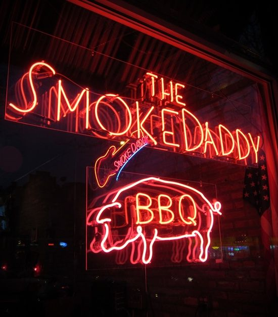 BBQ Neon Signs   Signs / The Smoke Daddy BBQ neon sign in Chicago