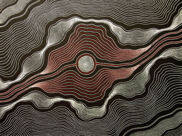 Aboriginal Art Painting by Anna Petyarre Pitjara My Country 82x60cm