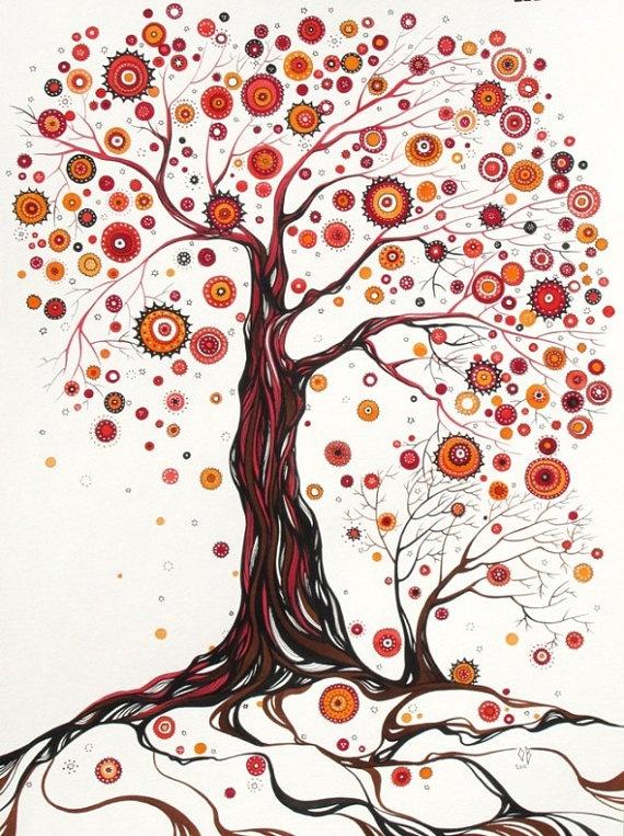 tree inspiration fro kids' auction piece Olena Baca