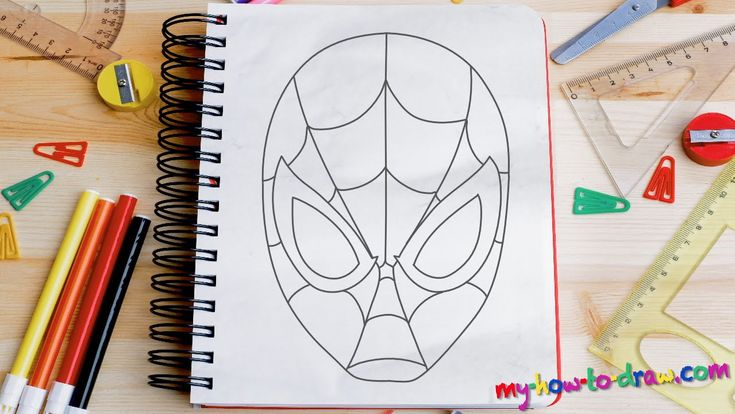 How to draw Spiderman - Easy step-by-step drawing lessons for kids