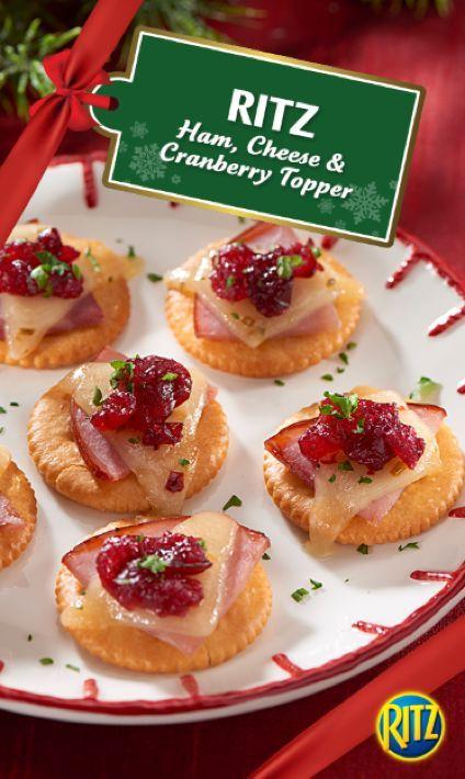 RITZ Ham, Cheese & Cranberry Topper