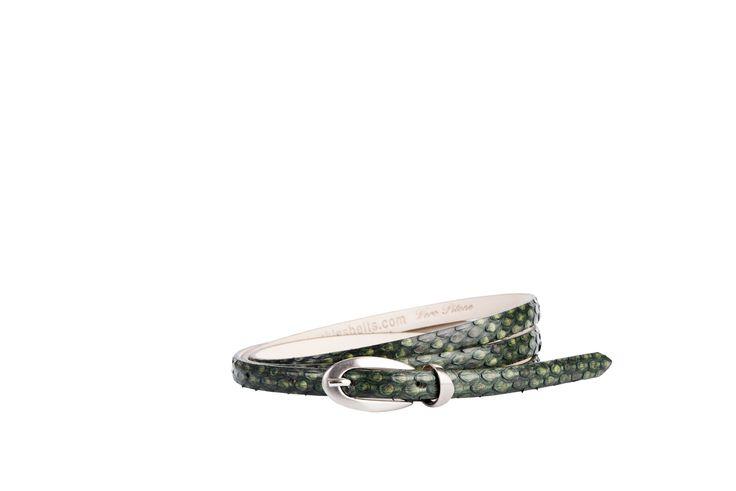 Buckles & Belts - Belt/Gürtel - New Autumn Collection 2016 - Pitone - Phyton leather - verde - green - Design in SWITZERLAND made in ITALY https://www.facebook.com/BucklesBelts