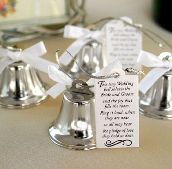 24 Mini Ring For A Kiss Wedding Kissing Bells Wedding Bells For DIY Wedding Supplies Table