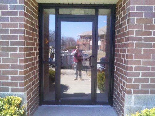 Commercial building door exterior flint street project for Commercial exterior doors